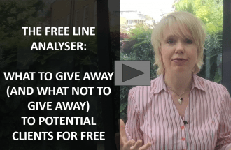 The Free Line Analyser: What To Give Away (And What Not To Give Away) To Potential Clients For Free